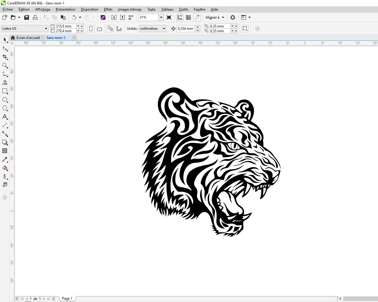 creation d'un modèle vectoriel sous Corel Draw X8