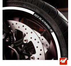 Kit Liserets Jante Moto Honda RED Blackbird XX 8 mm