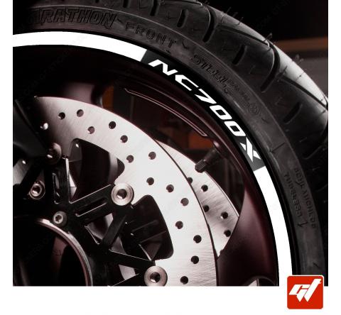 Kit Liserets Jante Moto Honda NC700X - 8 mm