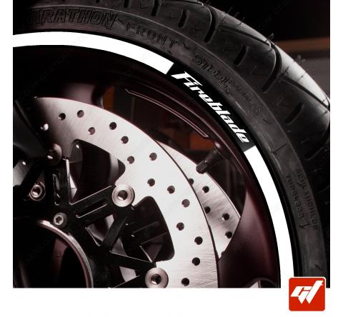 Kit Liserets Jante Moto Honda Fireblade - 8 mm