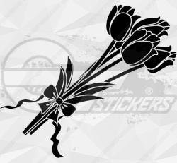 Sticker Bouquet De Tulipes