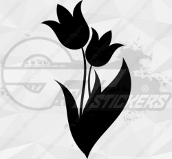 Sticker Fleur Tulipe