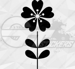 Sticker Fleurs Tige