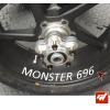 4 Stickers DUCATI Monster 696 Déco intérieur jantes moto