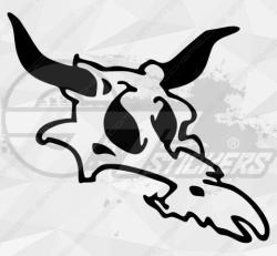 Sticker tete de mort vache