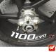 4 Stickers DUCATI 1100 EVO Déco intérieur jantes moto