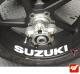 4 Stickers Suzuki Déco intérieur jantes Moto