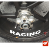 4 Stickers Suzuki Racing Déco intérieur jantes Moto