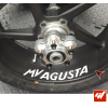 4 Stickers MV AGUSTA Déco intérieur jantes Moto