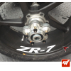 4 Stickers Kawasaki ZR-7 Déco intérieur jantes Moto