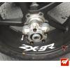 4 Stickers Kawasaki ZX-9R Déco intérieur jantes Moto
