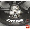 4 Stickers Kawasaki ZXR 750 Déco intérieur jantes Moto