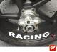 4 Stickers Kawasaki RACING Déco intérieur jantes Moto