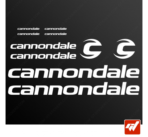 Planche de 10 stickers CANNONDALE