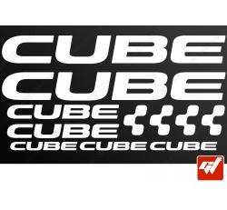 Planche de 11 stickers CUBE