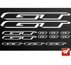 Planche de 13 stickers GT