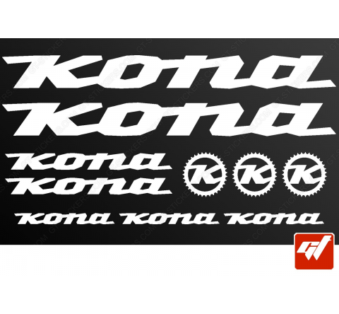 Planche de 10 stickers KONA
