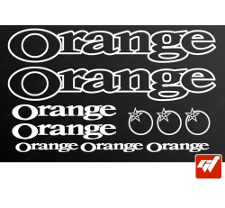 Planche de 10 stickers ORANGE