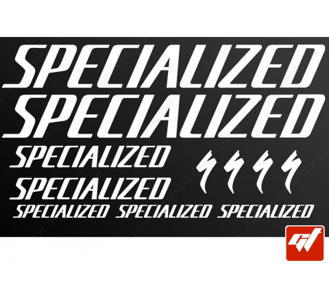 Planche de 11 stickers SPECIALIZED