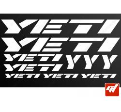 Planche de 10 stickers YETI