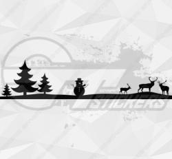 Sticker Noël Frise 1