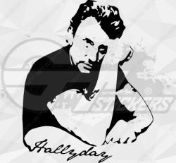 Sticker Johnny Hallyday Signature