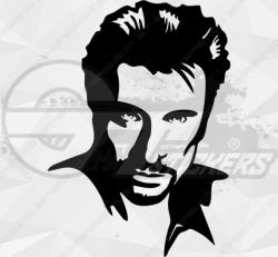 Sticker Johnny Hallyday 4