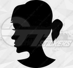 Sticker Femme Visage Silhouette 6
