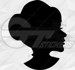 Sticker Femme Visage Silhouette 5