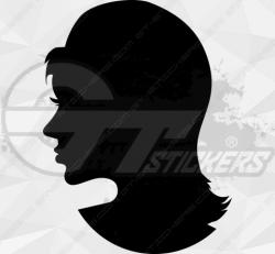 Sticker Femme Visage Silhouette 2