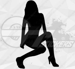 Sticker Silhouette Femme Sexy 3
