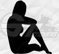 Sticker Silhouette Femme Sexy 4