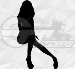 Sticker Silhouette Femme Sexy 14