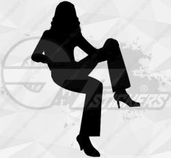 Sticker Silhouette Femme Sexy 15