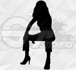 Sticker Silhouette Femme Sexy 16