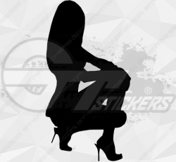 Sticker Silhouette Femme Sexy 18