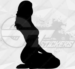 Sticker Silhouette Femme Sexy 24