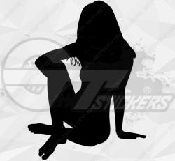 Sticker Silhouette Femme Sexy 30