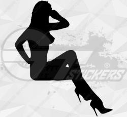 Sticker Silhouette Femme Sexy 32