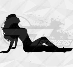Sticker Silhouette Femme Sexy 45