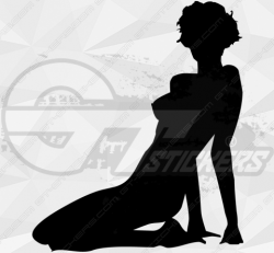 Sticker Silhouette Femme Sexy 57