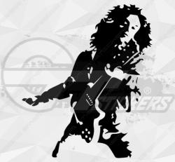 Sticker femme chanteuse