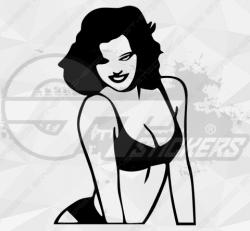 Sticker femme sexy 5