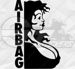 Sticker femme airbag