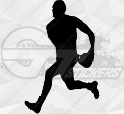 Sticker Rugby Joueur