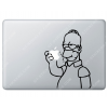 Sticker Apple Homer Simpson croque la pomme pour Macbook - Taille : 179x141 mm