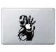 Stickers Apple  Ironman pour Macbook - Taille : 184x133 mm