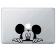 Sticker Apple  Mickey Disney pour Macbook - 192x118 mm