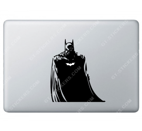 Sticker Apple Batman pour Macbook - Taille : 138x158 mm