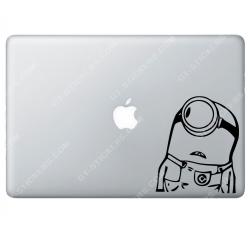 Stickers Apple Minion Moi moche et méchant pour Macbook - Taille : 115x135 mm
